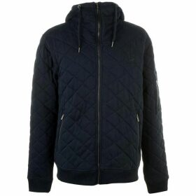 Firetrap Quilted Zip Hoody Men's - Blue