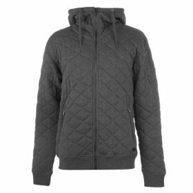 Firetrap Quilted Zip Hoody Men's - Charcoal