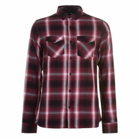 Firetrap Long Sleeve Check Shirt Mens - Burg Check