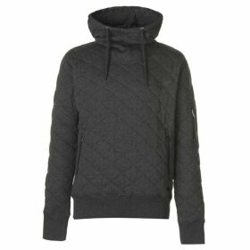 Firetrap Quilted OTH Hoody Mens - Charcoal