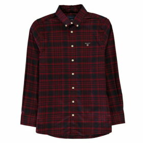 Gant Twill Check Shirt - Mahogny Red617