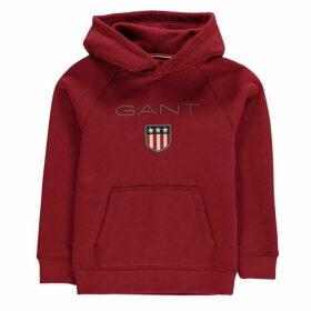 Gant Shield Logo Hoodie - Mahogny Red617