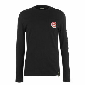 Gio Goi Goi Logo Long Sleeve T Shirt - Black