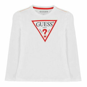 Guess Long Sleeve T-Shirt - White/Red