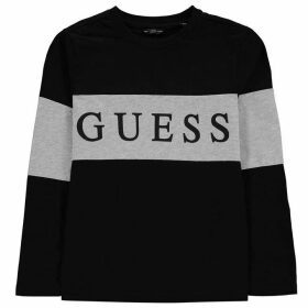 Guess Sleeve Logo T Shirt - Jet Black A996