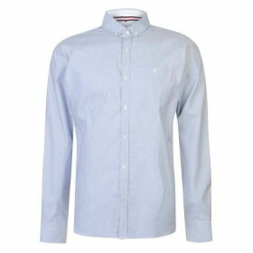 Kangol Long Sleeve Stripe Shirt Mens - White/Blue