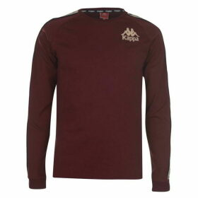 Kappa Dixon Long Sleeve T Shirt - Red Damson