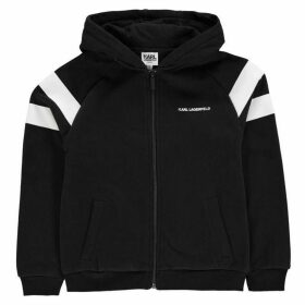 Karl Lagerfeld Bad Boy Zip Hoodie - Black 09B
