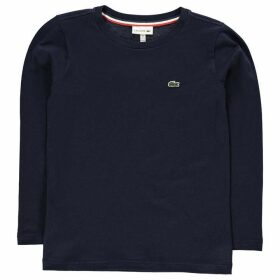 Lacoste Basic Long Sleeve T Shirt - Navy