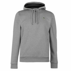 Lacoste Over the Head quarter Zip Hoody - Light Blue