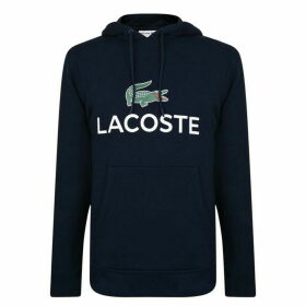 Lacoste Logo Hooded Sweatshirt - Navy