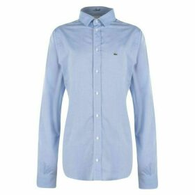 Lacoste Oxford Logo Shirt - Sky Blue