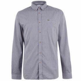 Lacoste Long Sleeve Check Shirt - Dark Navy 0Y1