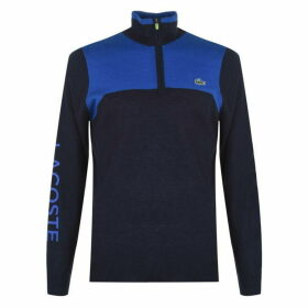 Lacoste Sport Technical Wool Golf Sweater Mens - Blue