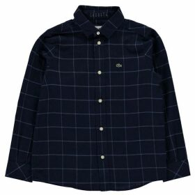 Lacoste Lacoste Check Flannel Shirt - Blue