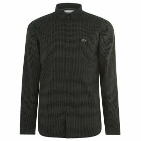 Lacoste Long Sleeve Check Shirt - Green 1PB