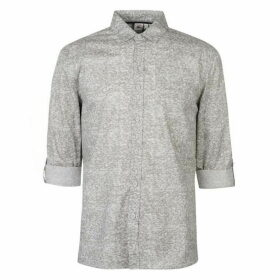 Lee Cooper Long Sleeve AOP Shirt Mens - Grey AOP