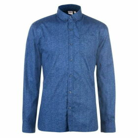 Lee Cooper Long Sleeve AOP Shirt Mens - Navy AOP
