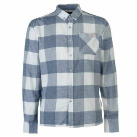 Lee Cooper Soft Check Long Sleeve Shirt Mens - Grey/White