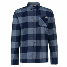 Lee Cooper Soft Check Long Sleeve Shirt Mens - Navy/Blue
