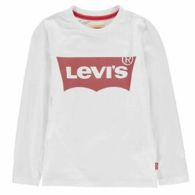 Levis Long Sleeve Batwing T Shirt - White 001