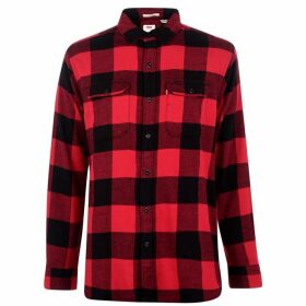 Levis Jackson Long Sleeve Shirt - Crimson