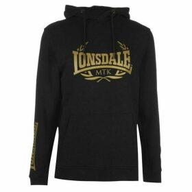 Lonsdale MTK Hoodie Mens - Black/Gold