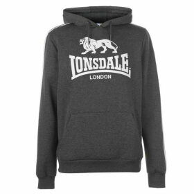 Lonsdale 2S OTH Hoody Mens - CharcoalM/White