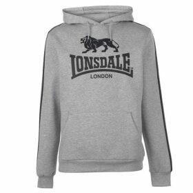 Lonsdale 2S OTH Hoody Mens - Grey Marl/Black