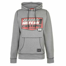No Fear Custom Motox Track OTH Hoody Mens - Grey Marl