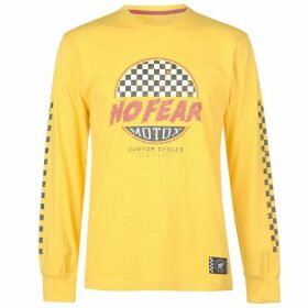 No Fear Custom Motox Long Sleeve T Shirt Mens - Yellow