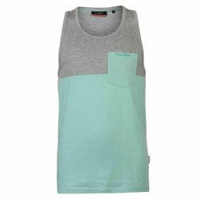 Pierre Cardin Cut and Sew Marl Vest Mens - Grey M/Mint M