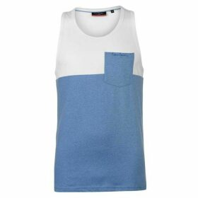 Pierre Cardin Cut and Sew Marl Vest Mens - White/Blue M