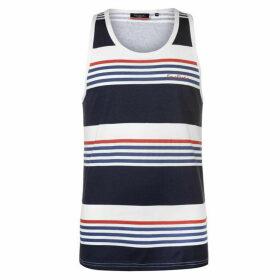 Pierre Cardin Printed Stripe Vest Mens - Navy/Wht/Blue