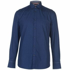 Pierre Cardin Long Sleeve Printed Shirt Mens - Blue AOP