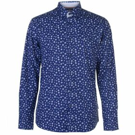Pierre Cardin Long Sleeve Printed Shirt Mens - Blue