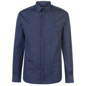 Pierre Cardin Long Sleeve Shirt Mens - Navy Stripe