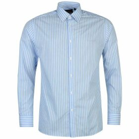 Pierre Cardin Long Sleeve Shirt Mens - Blue/Wht Stripe