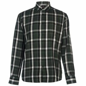 Pierre Cardin Long Sleeve Twill Shirt Mens - Forest/Black