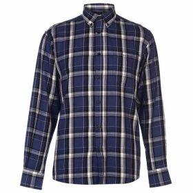 Pierre Cardin Long Sleeve Twill Shirt Mens - Cobalt/Black