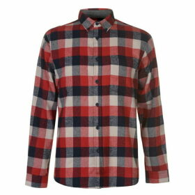 Pierre Cardin Long Sleeve Check Shirt Mens - Red/Nvy/Wht