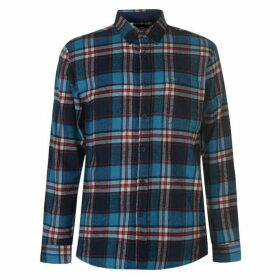 Pierre Cardin Long Sleeve Check Shirt Mens - Blue/Nvy/Wht