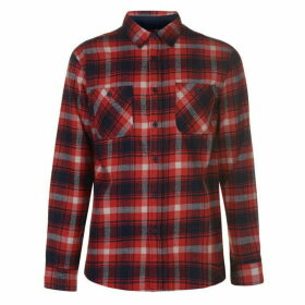 Pierre Cardin Long Sleeve Check Shirt Mens - Red/Navy