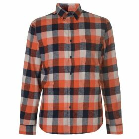 Pierre Cardin Long Sleeve Check Shirt Mens - Ornge/Navy/Wht