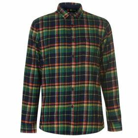 Pierre Cardin Long Sleeve Check Shirt Mens - Nvy/Grn/Orange