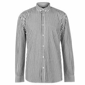 Pierre Cardin Bold Stripe Long Sleeve Shirt Mens - Black/White