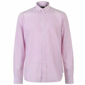 Pierre Cardin Bold Stripe Long Sleeve Shirt Mens - Pink/White