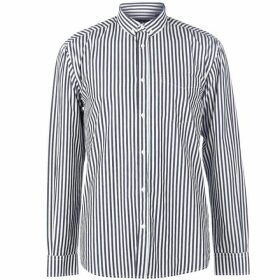 Pierre Cardin Bold Stripe Long Sleeve Shirt Mens - Navy/White