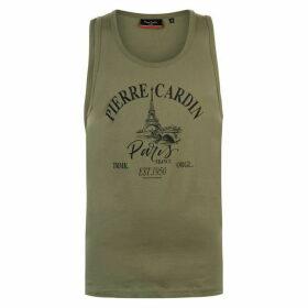 Pierre Cardin Printed Vest Mens - Khaki