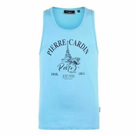 Pierre Cardin Printed Vest Mens - Blue